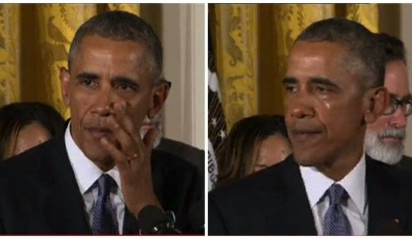 Barack Obama cries while unveiling action plan to curb gun violence