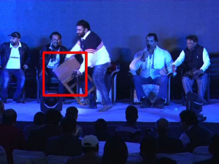 OMG: The Great Indian Khali gets so angry during an event that he breaks a table!