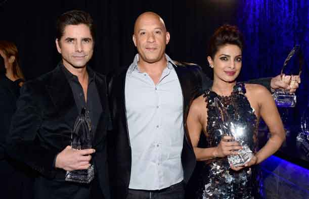 Priyanka Chopra win the award for favorite actress in a new TV series at the People's Choice Awards