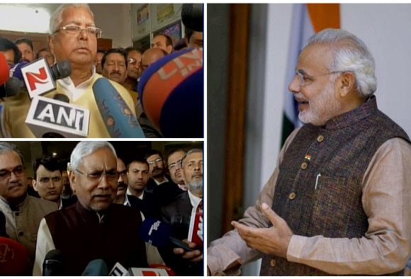 Laloo and Nitish Kumar on Pm Modi Pakistan visit