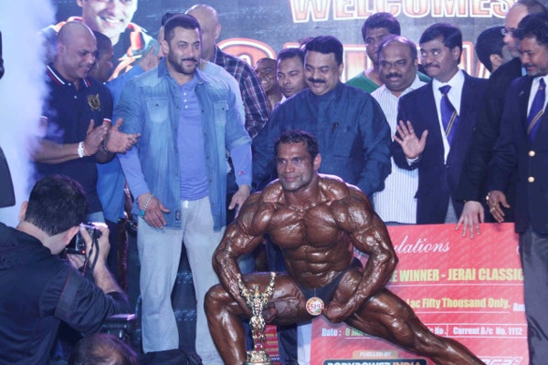 Mumbai: Salman Khan attends specially abled Athletes, Body Building Competition