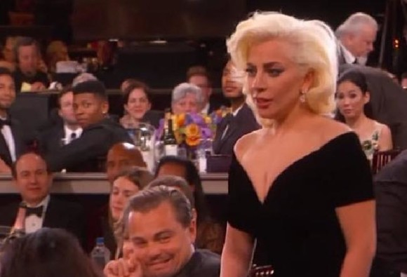 Watch: Leonardo DiCaprio's Reaction To Lady Gaga At The Golden Globes Is Viral