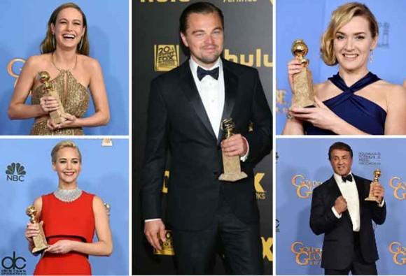 Leonardo DiCaprio wins the best actor Golden Globe for 'The Revenant'