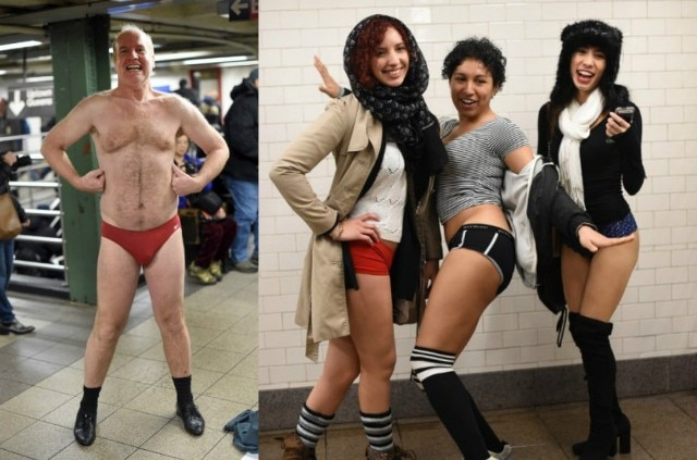 The Annual 'No Pants Subway Ride' in Pictures