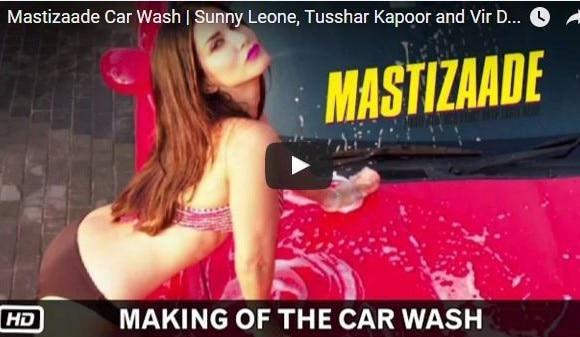 Mastizaade MAKING VIDEO: When Pattaya crowd gathered around Sunny Leone during car wash scene shoot