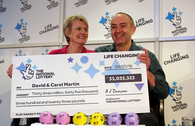 Lotto jackpot winners David and Carol Martin reveal how they'll spend £33m windfall