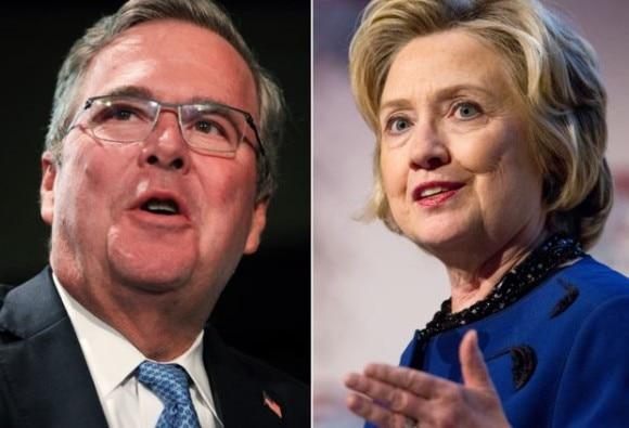 Jeb Bush and Hillary Clinton
