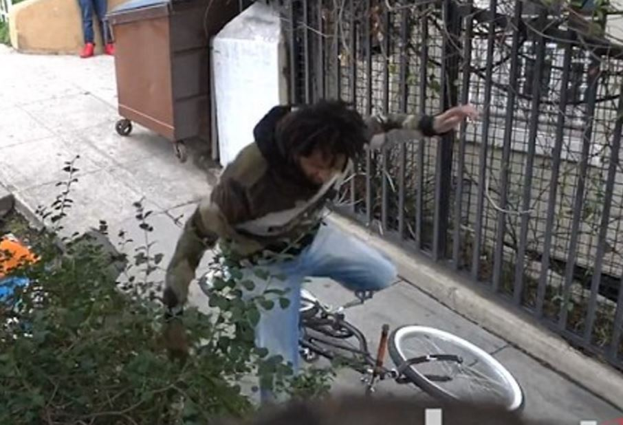 pranksters fitted electric shock devices to a bicycle