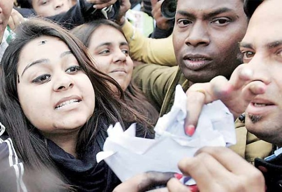 Girl who threw ink on face of Arvind Kejriwal will be produced in court today