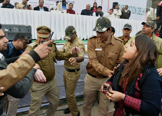 Ink attack on Kejriwal