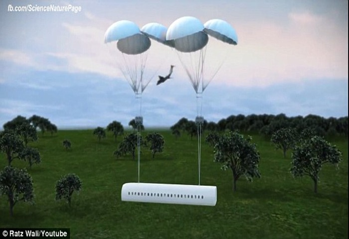 A Ukranian engineer comes up with a design of an aircraft with a detachable cabin