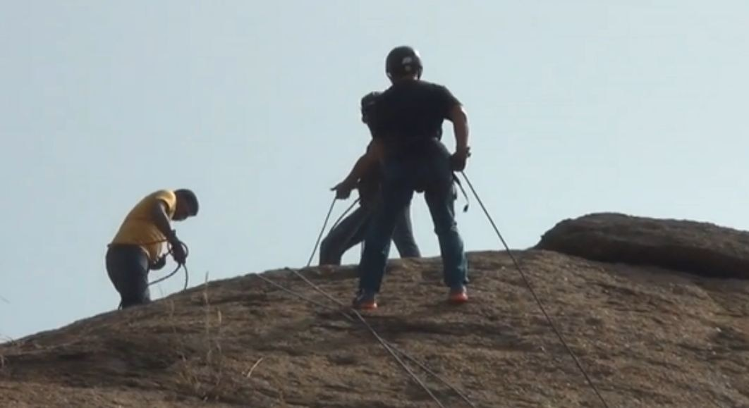 Boot Camp: Tyrolean traverse session with Rahul Dravid