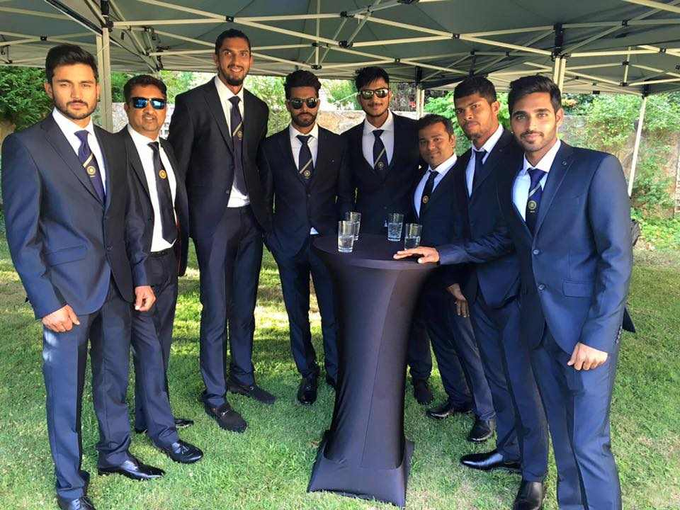 Team India members at a get together at India house in Canberra