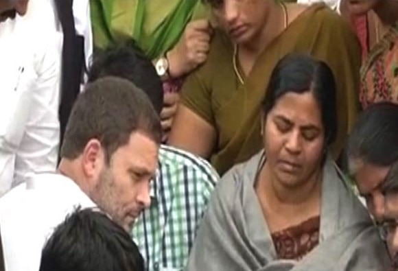 Dalit student suicide: Rahul Gandhi reaches Hyderabad