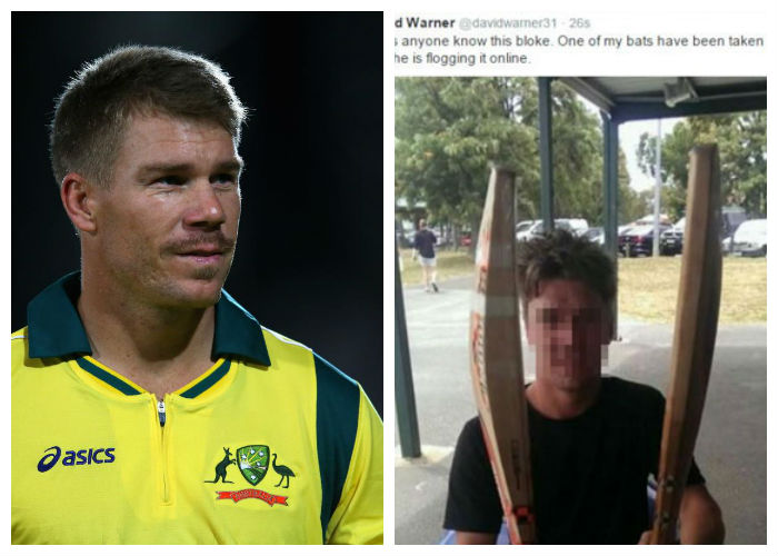 the man who stole David Warner's bat was his fan