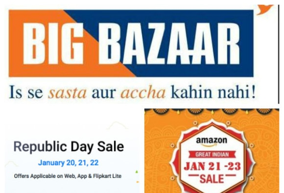 Big discount offer sale by e commerce companies on republic day