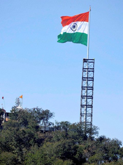India's largest tri colour unfurled at Ranchi
