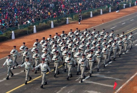 French Troops Participate in Republic Day Parade