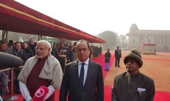 In India to strengthen cooperation against terror: Hollande