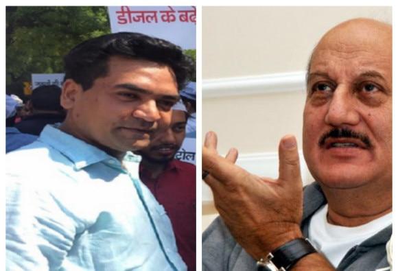 intolerance debate: Anupam Kher & Kapil Mishra have war of words at Jaipur Literature Festival