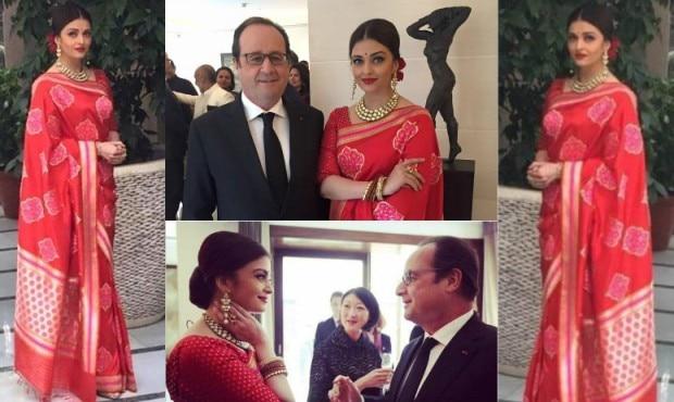 Aishwarya Rai Bachchan Lunches With French President Hollande