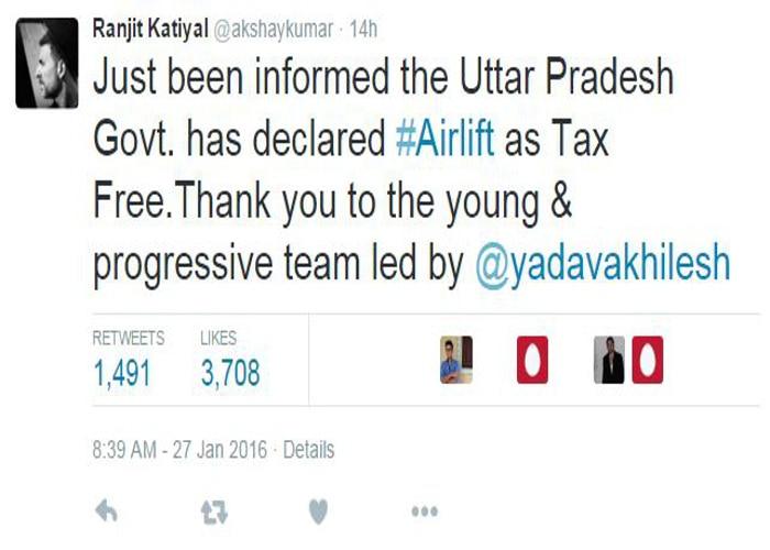 airlift made tax free in uttar pradesh