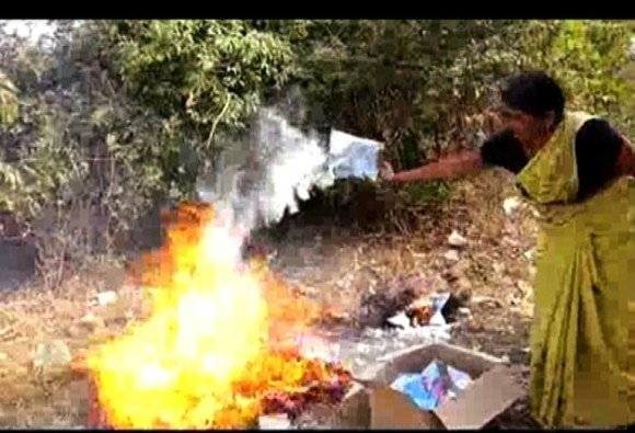 MILK PACKET BURNT IN MP