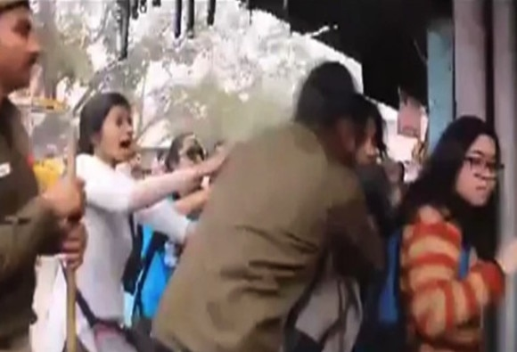 Brutal Beating of Woman by Delhi Police