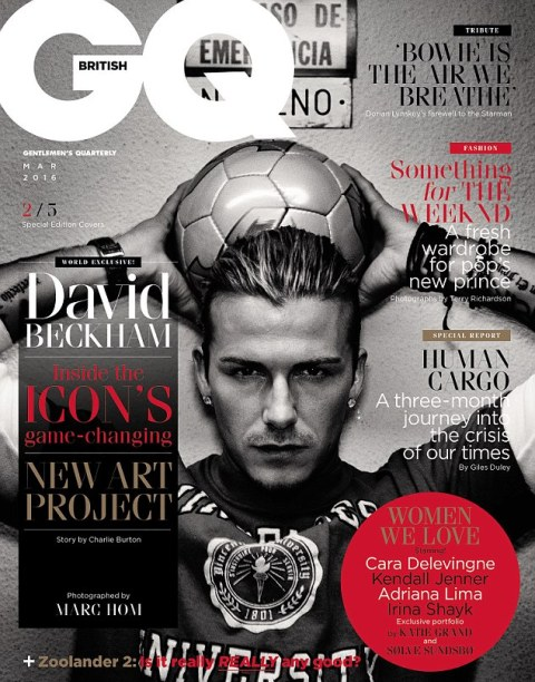 Many faces of David Beckham are celebrated by GQ magazine