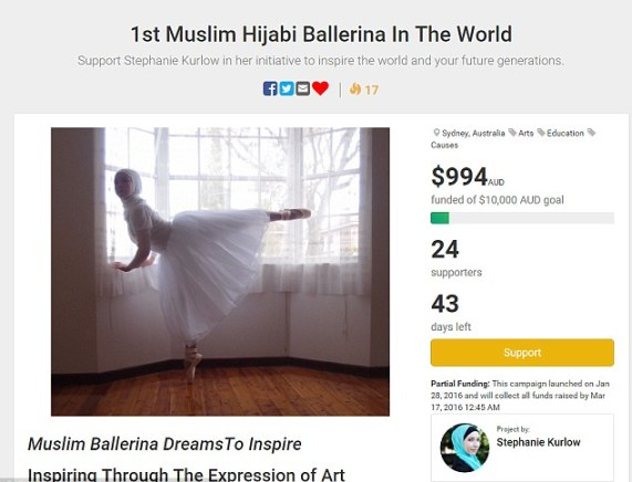 World's first professional Muslim ballerina to dance in a hijab