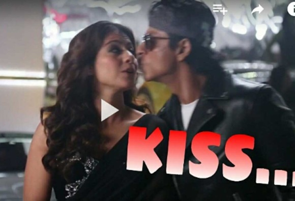 Watch SRK, Kajol's accidental KISS during 'tukur tukur' shoot!
