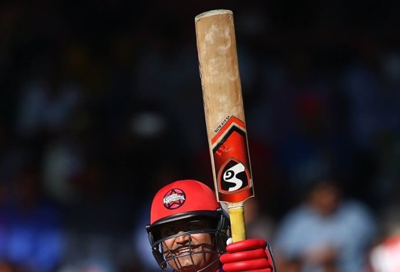 Sehwag scores blazing 63-ball 134 in MCL