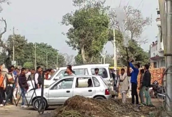 Mob led by the MLA held Journalists hostage