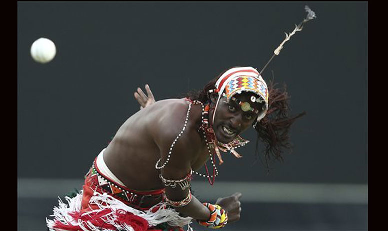 Maasai Cricket Warriors played a charity cricket match against former Rugby players in Sydney, Australia
