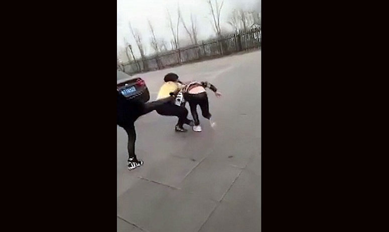 china: Shocking moment school girl is violently beaten then stripped to her underwear by teen bullies