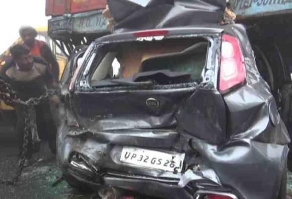 Haryana : Cars pile up, 4 Dead