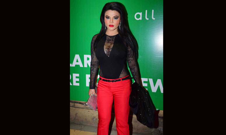 rakhi, mika seen during Meet Bros party for winning Fab 5 awards