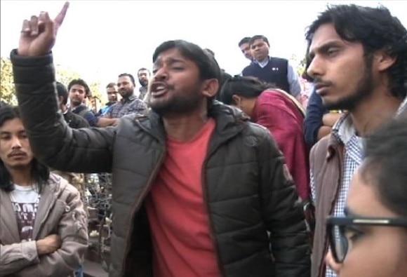 Police arrest JNU Student's Union president Kanhaiya Kumar