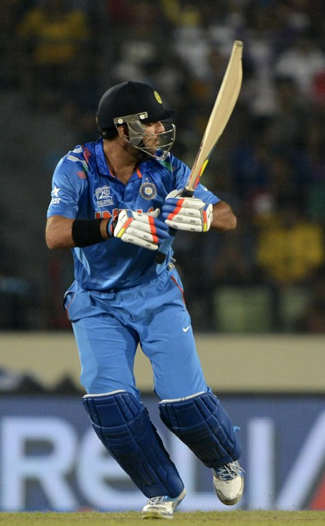 Yuvraj Singh missed out on a world record as he was finally dismissed for a duck in T20