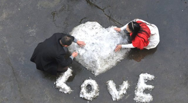 Couples around the world celebrated valentine day