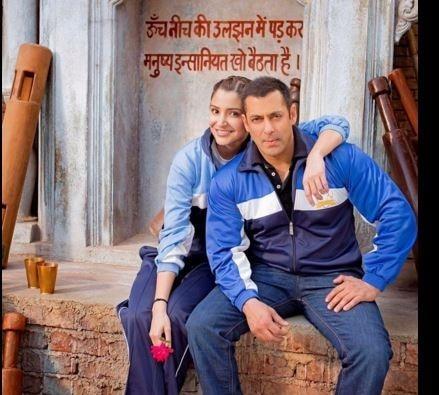 Salman and Anushka during the 'Sultan' shoot