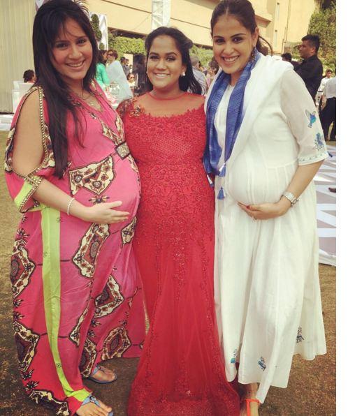 Genelia D' Souza, Arpita Khan & Kanchi Kaul in baby shower ceremony