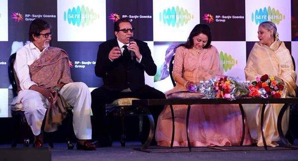 sholay reunion-amitabh, jaya, dharmendra and ramesh sippy on hemas song launch