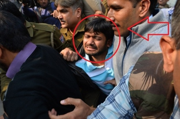 Lawyers attack arrested JNUSU president Kanhaiya Kumar in Patiala House court