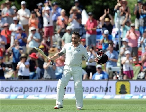 NZ's McCullum hits fastest test century, off 54 balls