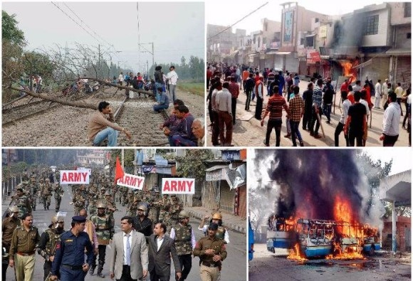 jat agitation turns into unruly violence, 10 killed