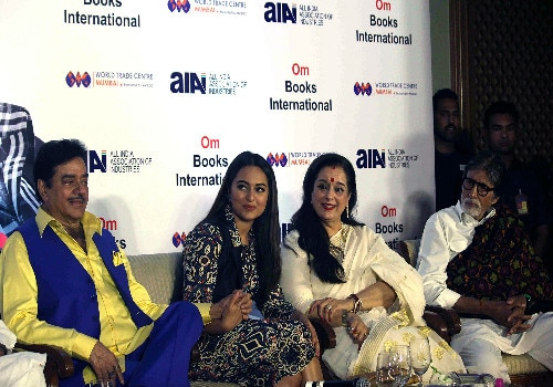 amitabh bachchan launches anything but khamosh the shatrughan sinha biography