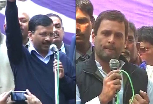 Rahul and kejriwal comment on modi government