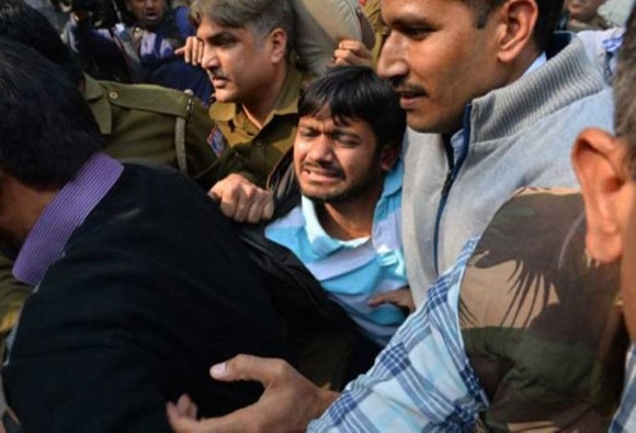 JNU sedition row: president Kanhaiya beaten?