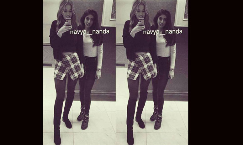 navya nanda share pics, of friends doing mischif, on instagram